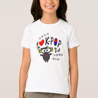 I love K-POP TXT OWL VECTOR Girls Ringer T-Shirt