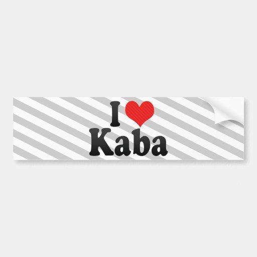 I Love Kaba Bumper Stickers