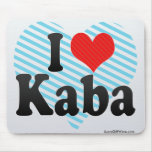 I Love Kaba Mouse Pad