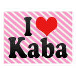 I Love Kaba Postcard