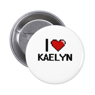 I Love Kaelyn Digital Retro Design 2 Inch Round Button