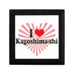 I Love Kagoshima-shi, Japan Jewelry Boxes