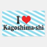 I Love Kagoshima-shi, Japan Rectangular Sticker