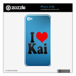 I love Kai iPhone 4 Skins