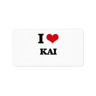 I Love Kai Address Label