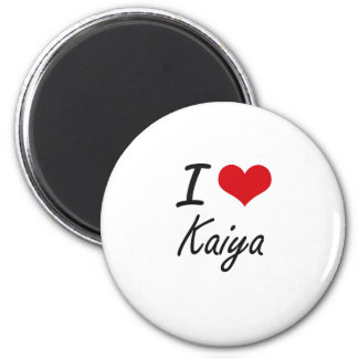 I Love Kaiya artistic design 2 Inch Round Magnet