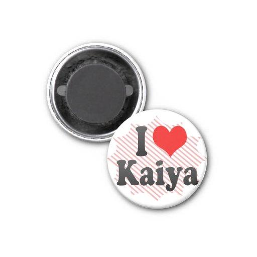 I love Kaiya Fridge Magnets