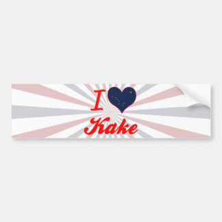 I Love Kake, Alaska Car Bumper Sticker