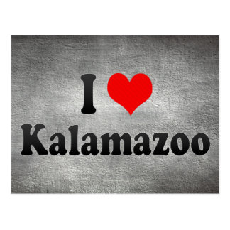 I Love Kalamazoo, United States Postcard