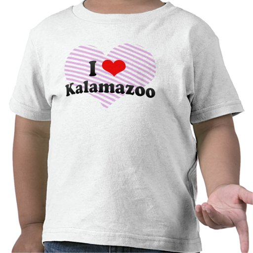 I Love Kalamazoo, United States T Shirts
