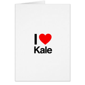 i love kale card