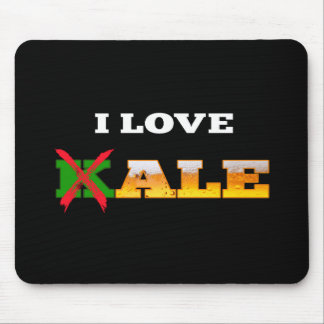 I Love Kale, Funny, Nerdy Beer Lover Gifts. Mouse Pad