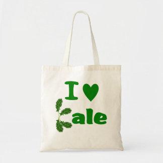 I Love Kale (I Heart Kale) Reusable Grocery Cloth Budget Tote Bag