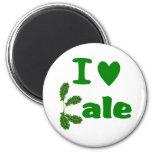 I Love Kale (I Heart Kale) Vegetable/Gardener 2 Inch Round Magnet