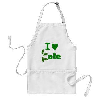 I Love Kale (I Heart Kale) Vegetable/Gardener Adult Apron
