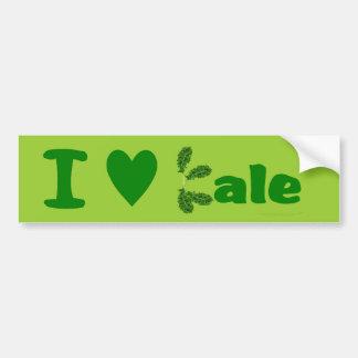I Love Kale (I Heart Kale) Vegetable/Gardener Car Bumper Sticker