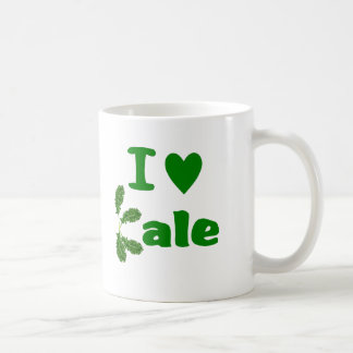 I Love Kale (I Heart Kale) Vegetable/Gardener Coffee Mug