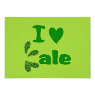 I Love Kale (I Heart Kale) Vegetable/Gardener 5x7 Paper Invitation Card