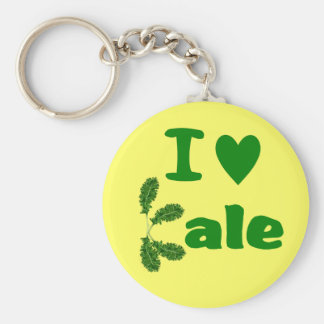 I Love Kale (I Heart Kale) Vegetable/Gardener Keychain
