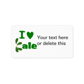 I Love Kale (I Heart Kale) Vegetable/Gardener Label