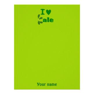 I Love Kale (I Heart Kale) Vegetable/Gardener Letterhead