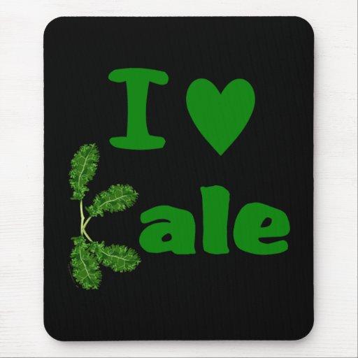 I Love Kale (I Heart Kale) Vegetable/Gardener Mousepad