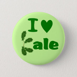 I Love Kale (I Heart Kale) Vegetable/Gardener Pinback Button