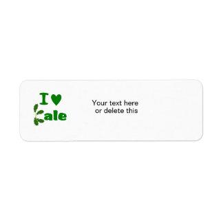 I Love Kale (I Heart Kale) Vegetable/Gardener Return Address Label