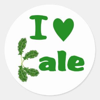 I Love Kale (I Heart Kale) Vegetable/Gardener Sticker
