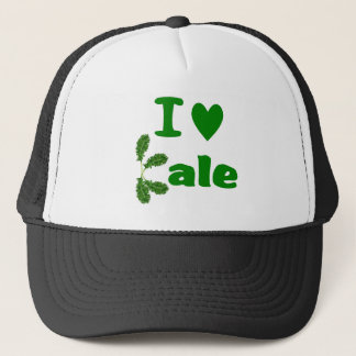 I Love Kale (I Heart Kale) Vegetable/Gardener Trucker Hat