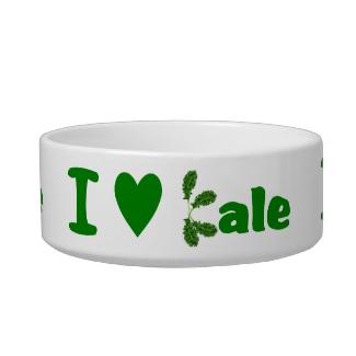 I Love Kale Rabbit or Guinea Pig Pet Bowl