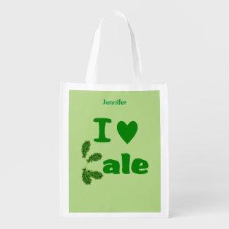I Love Kale Reusable Grocery Bag Veggie Lovers