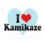 I Love Kamikaze Postcard