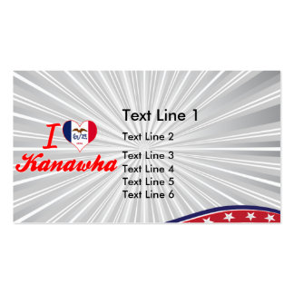 I Love Kanawha, Iowa Double-Sided Standard Business Cards (Pack Of 100)