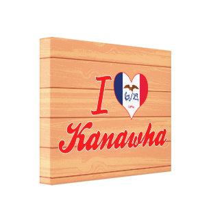 I Love Kanawha Iowa Gallery Wrapped Canvas