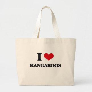 I Love Kangaroos Canvas Bags