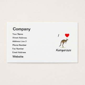 I Love Kangaroos Business Card