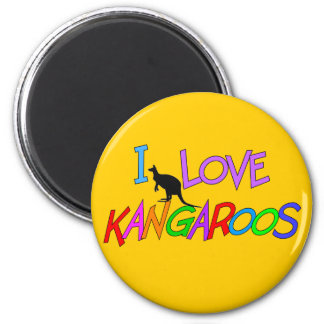 I Love Kangaroos Gifts For All Ages Fridge Magnet