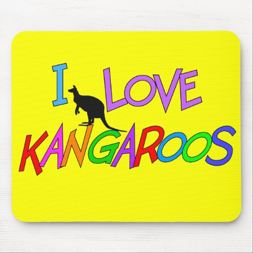 I Love Kangaroos Gifts For All Ages Mouse Pad