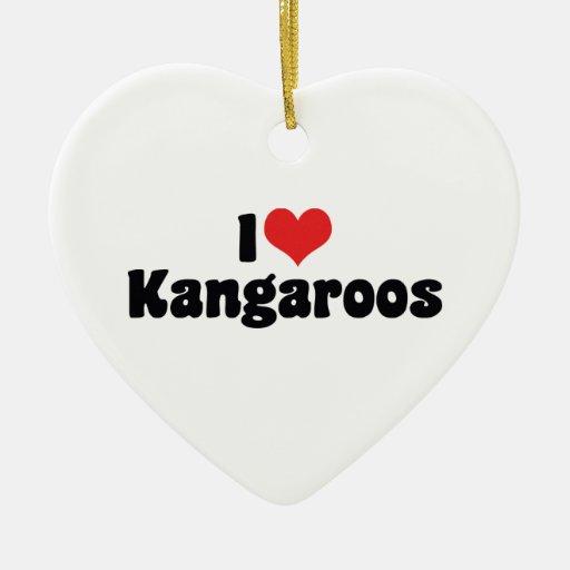 I Love Kangaroos Ornament