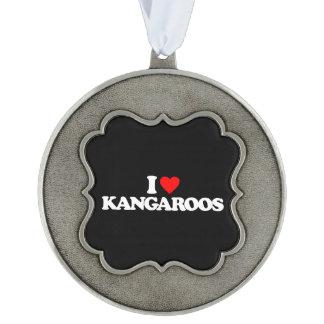 I LOVE KANGAROOS PEWTER ORNAMENT