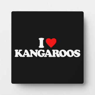 I LOVE KANGAROOS PHOTO PLAQUE