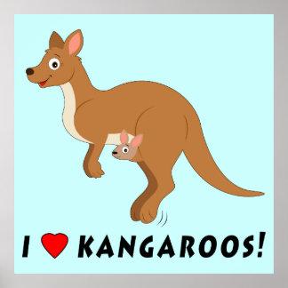 I Love Kangaroos Poster