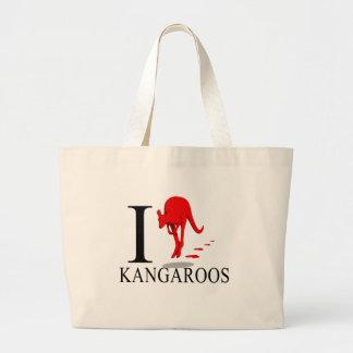 I Love Kangaroos Tote Bags