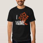 I Love (kanji) Anime Shirt