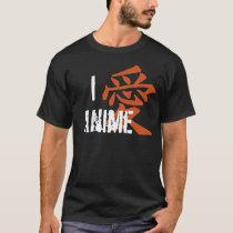 I Love (kanji) Anime T-Shirt