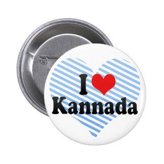 I Love Kannada Pins