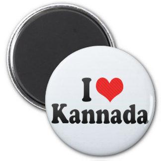 I Love Kannada Fridge Magnet