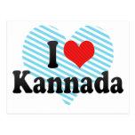 I Love Kannada Postcard