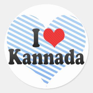 I Love Kannada Classic Round Sticker